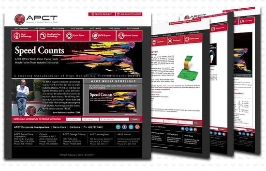 APCT web page design